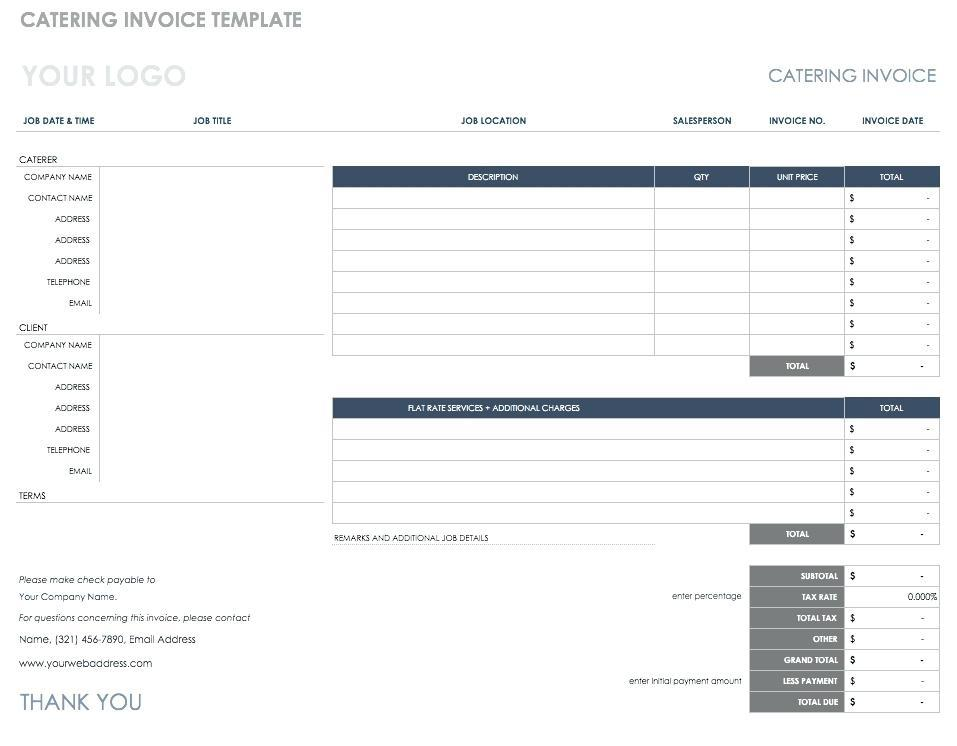 Catering Cost Sheet Template