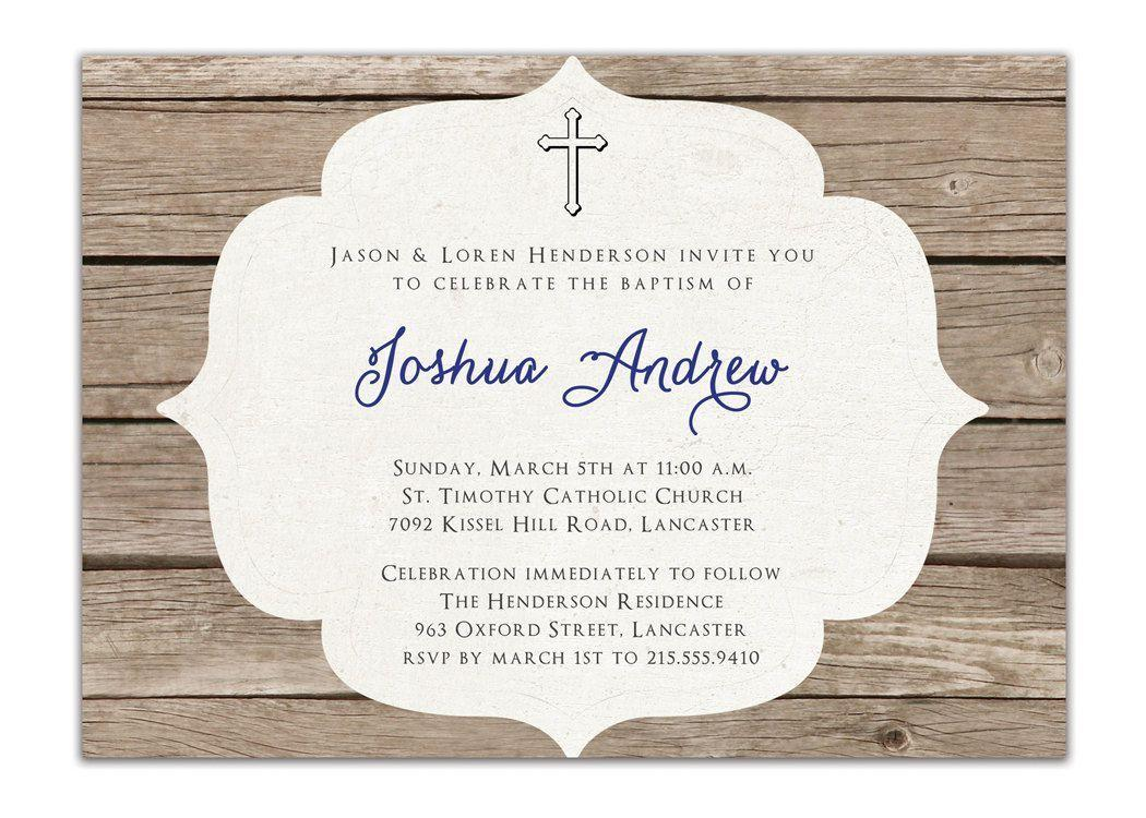 Catholic Baptism Invitations Templates