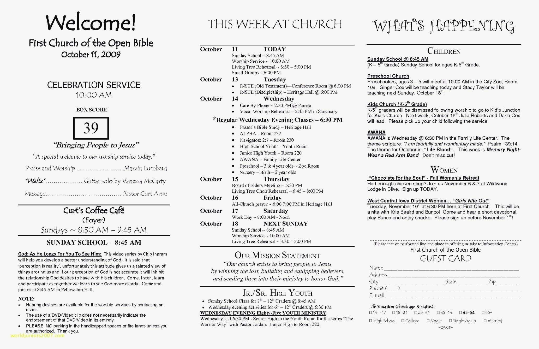 Catholic Church Bulletin Templates