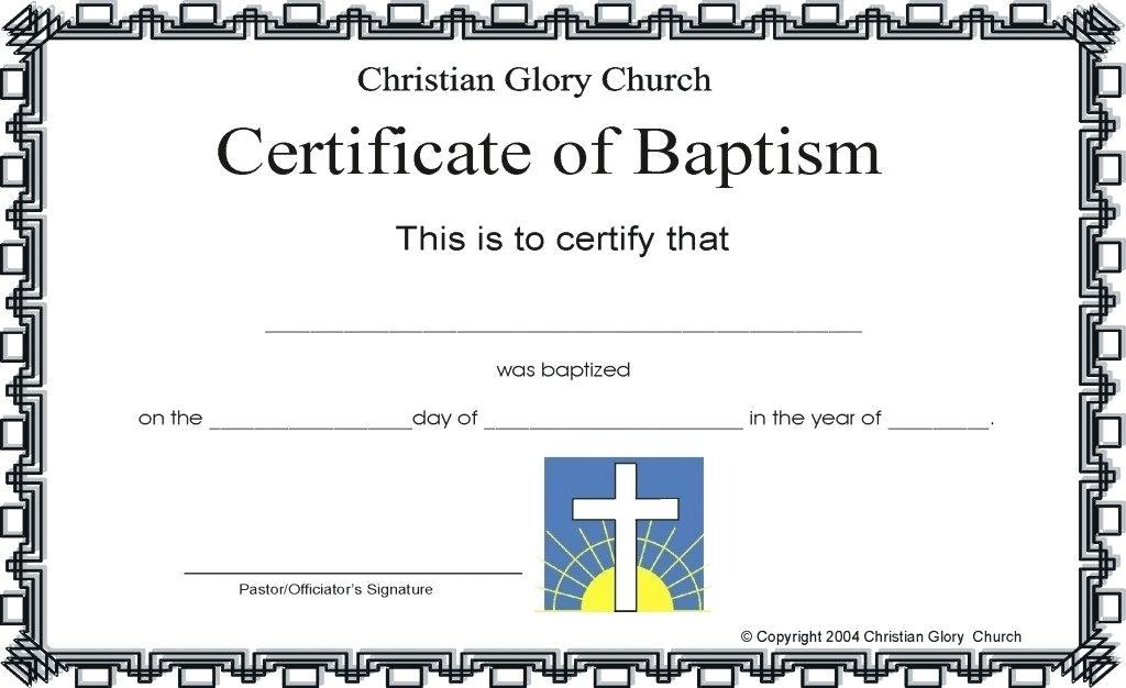 Catholic Church Certificate Templates