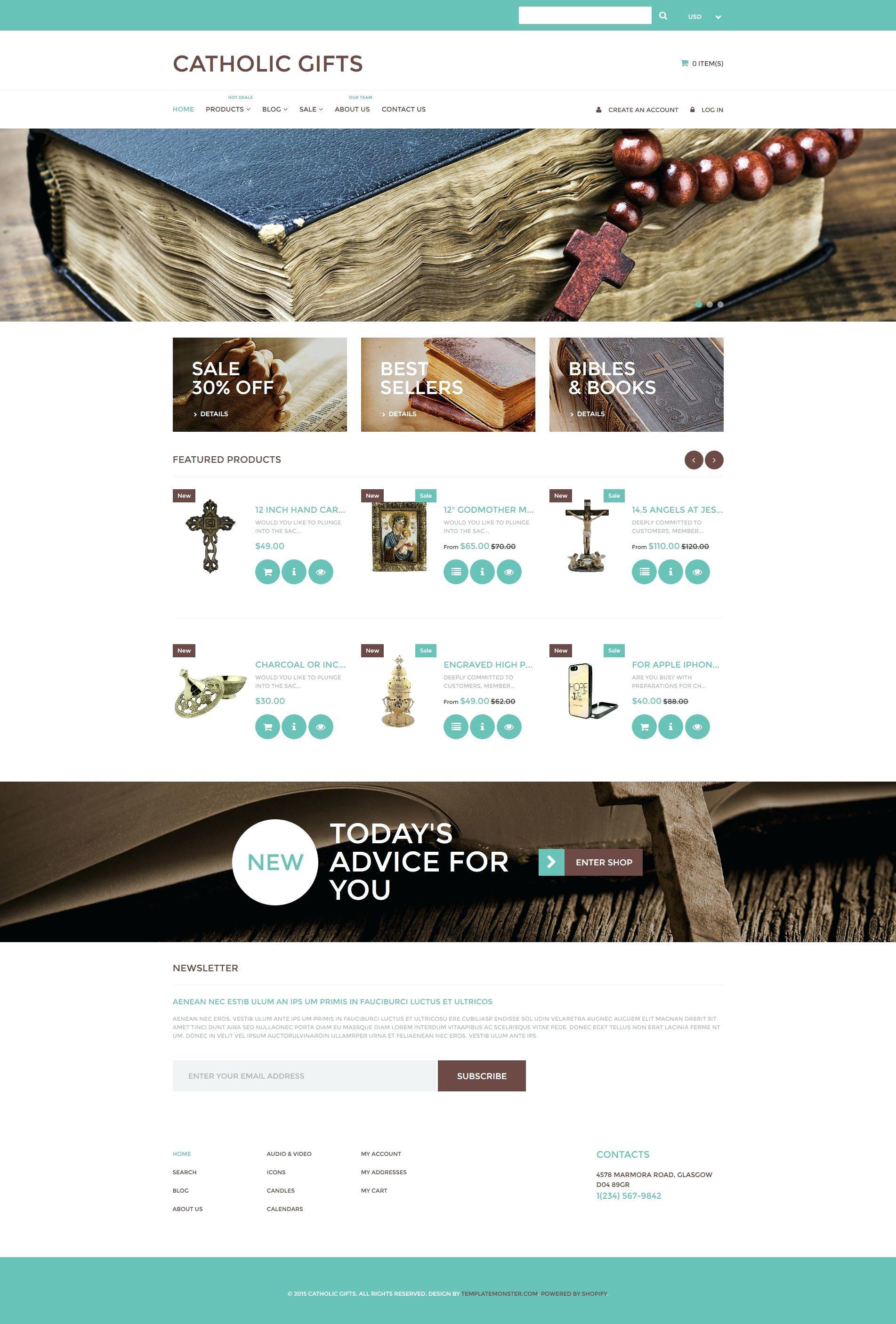 Catholic Church Website Templates Free