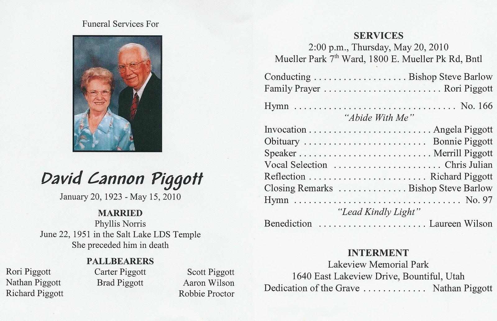 Catholic Funeral Programs Free Templates