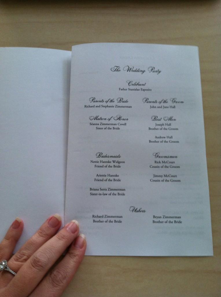 Catholic Wedding Booklet Template Ireland