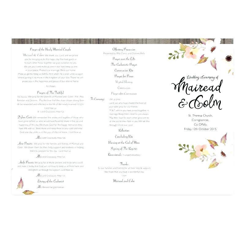 Catholic Wedding Booklet Template
