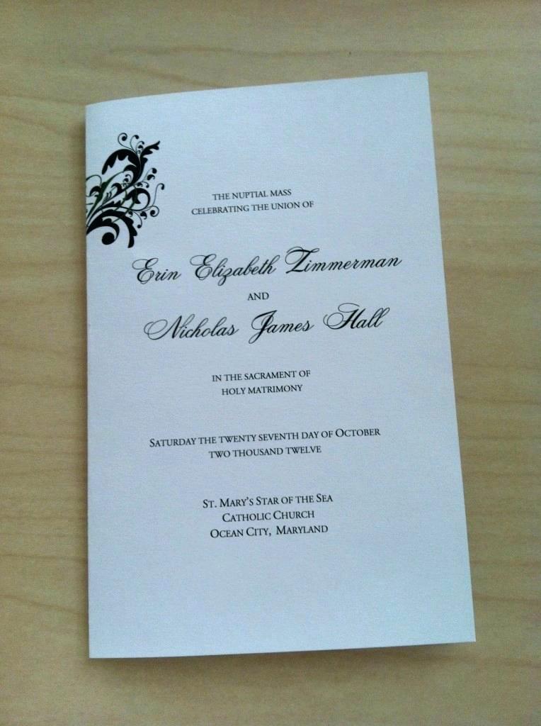 Catholic Wedding Mass Booklet Template 2015