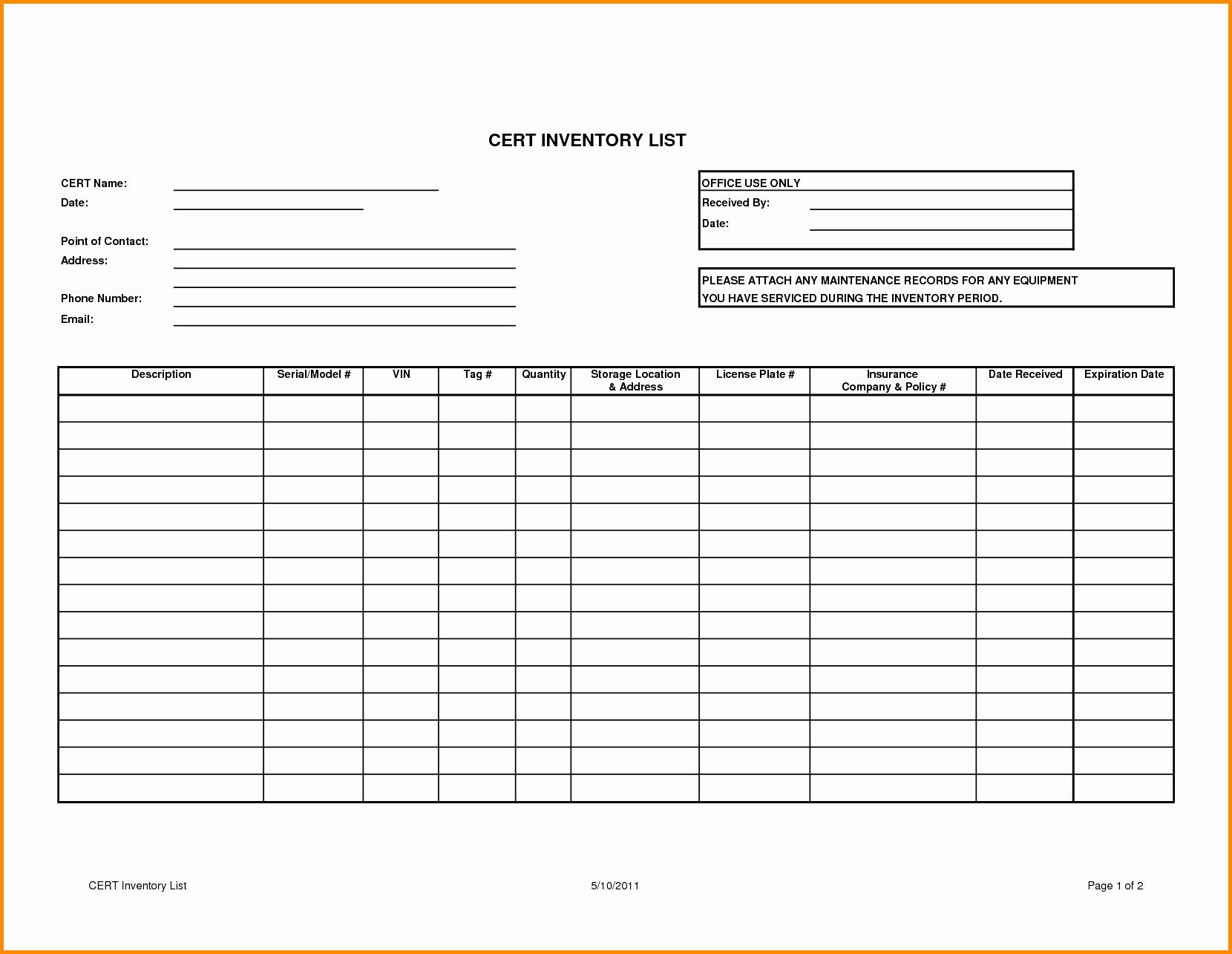 Cattle Inventory Spreadsheet Template