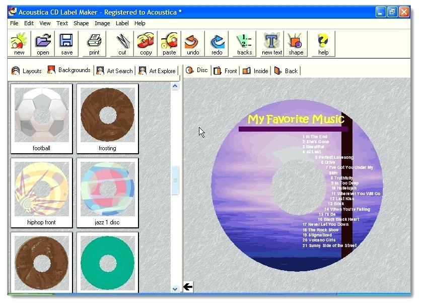 Cd Label Maker Template Free