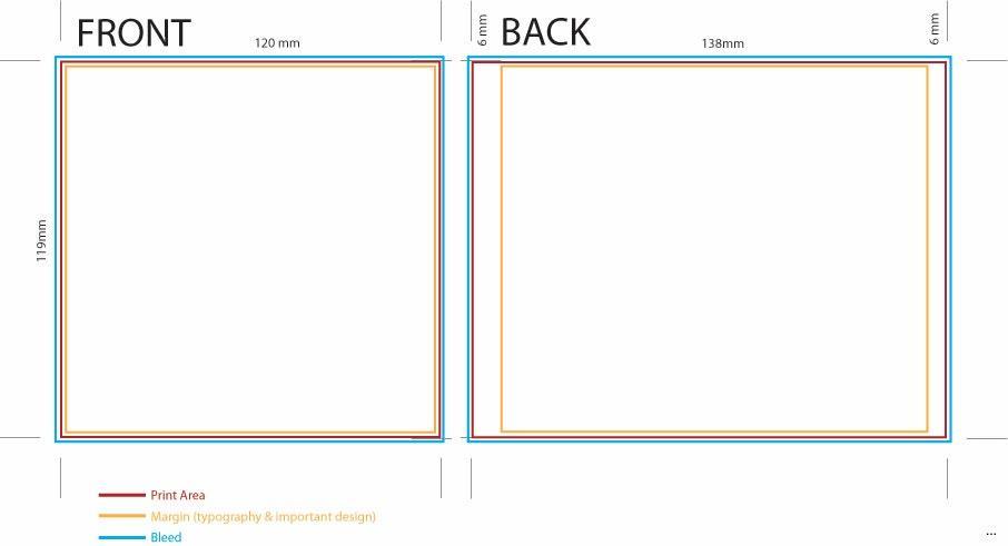 Cd Sleeve Design Template