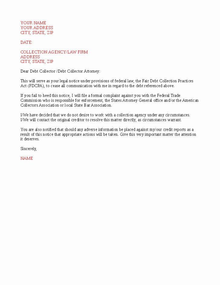Cease And Desist Letter Template For Debt Collectors
