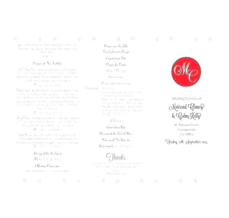 Ceremony Program Layout
