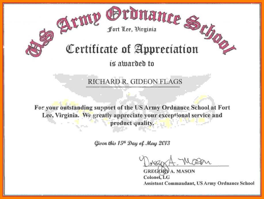 Certificate Appreciation Template Publisher
