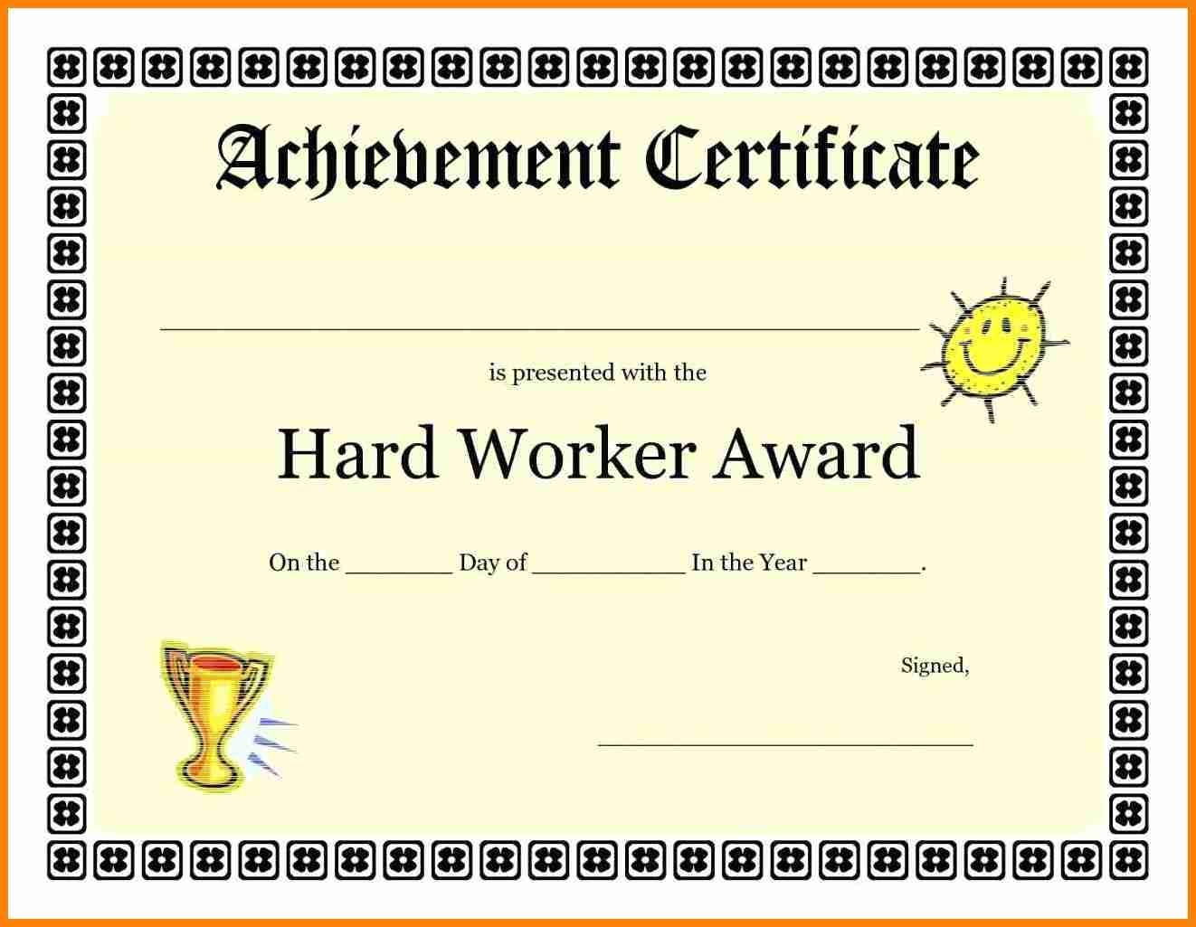 Certificate Of Achievement Templates Free Download