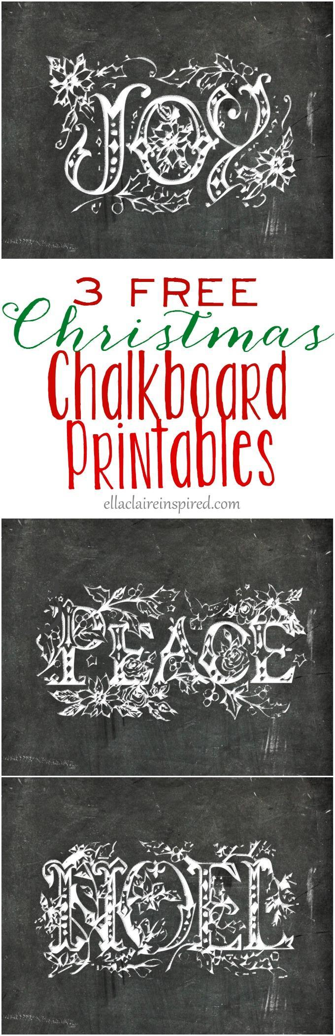 Chalkboard Printable Template
