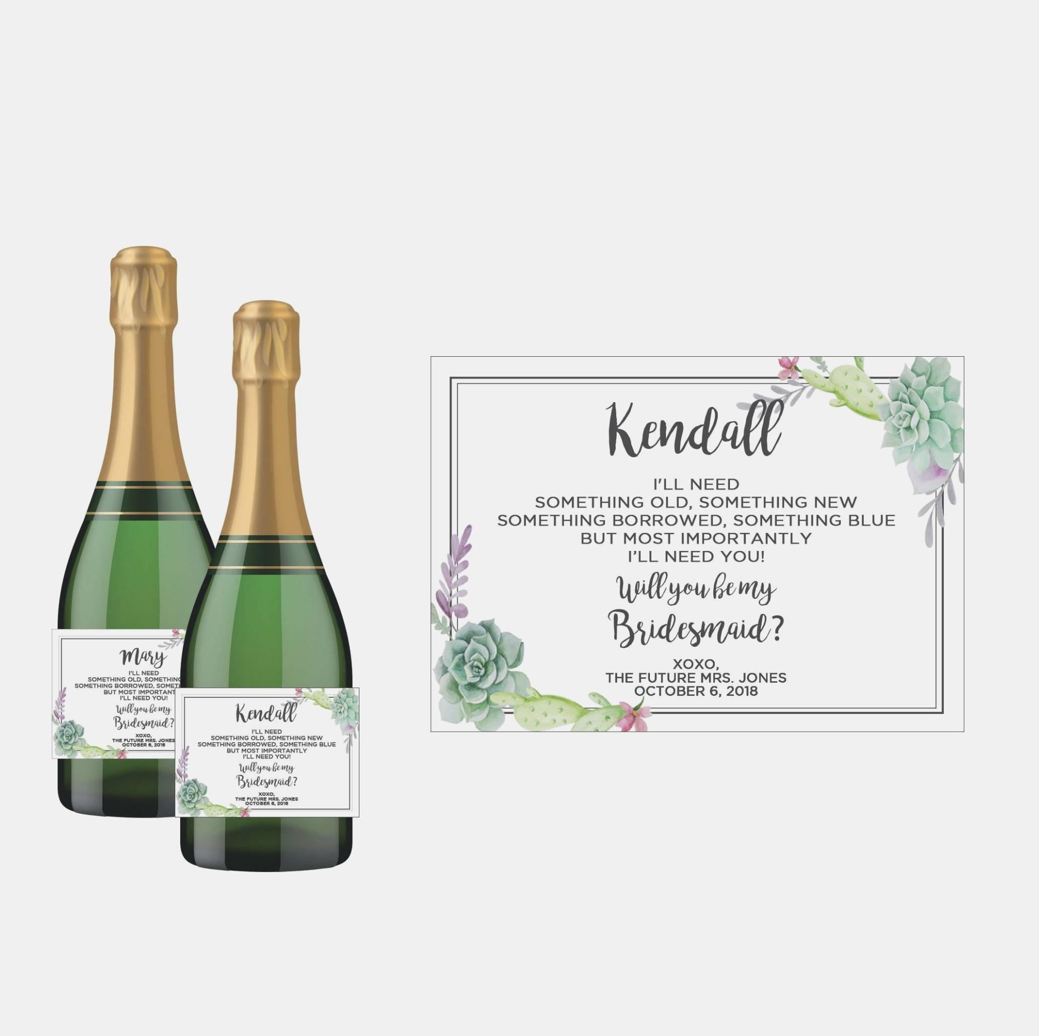 Champagne Bottle Label Template