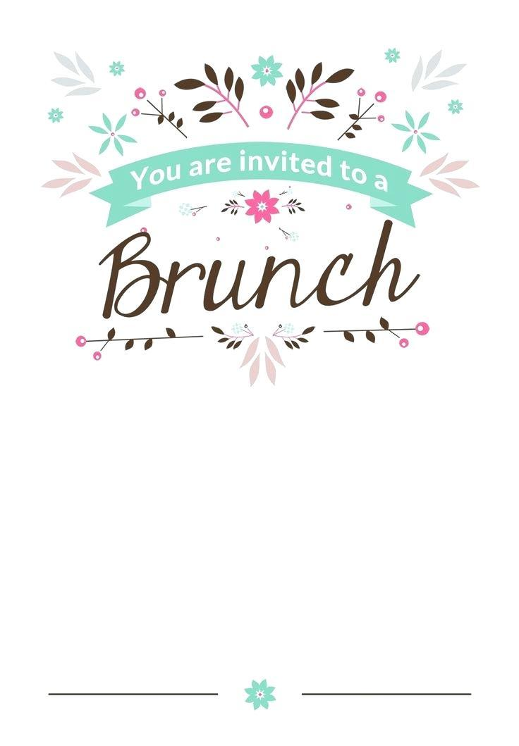 Champagne Breakfast Invitation Template