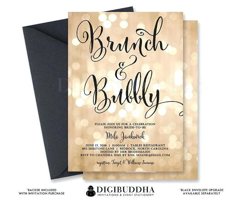 Champagne Brunch Invitation Template