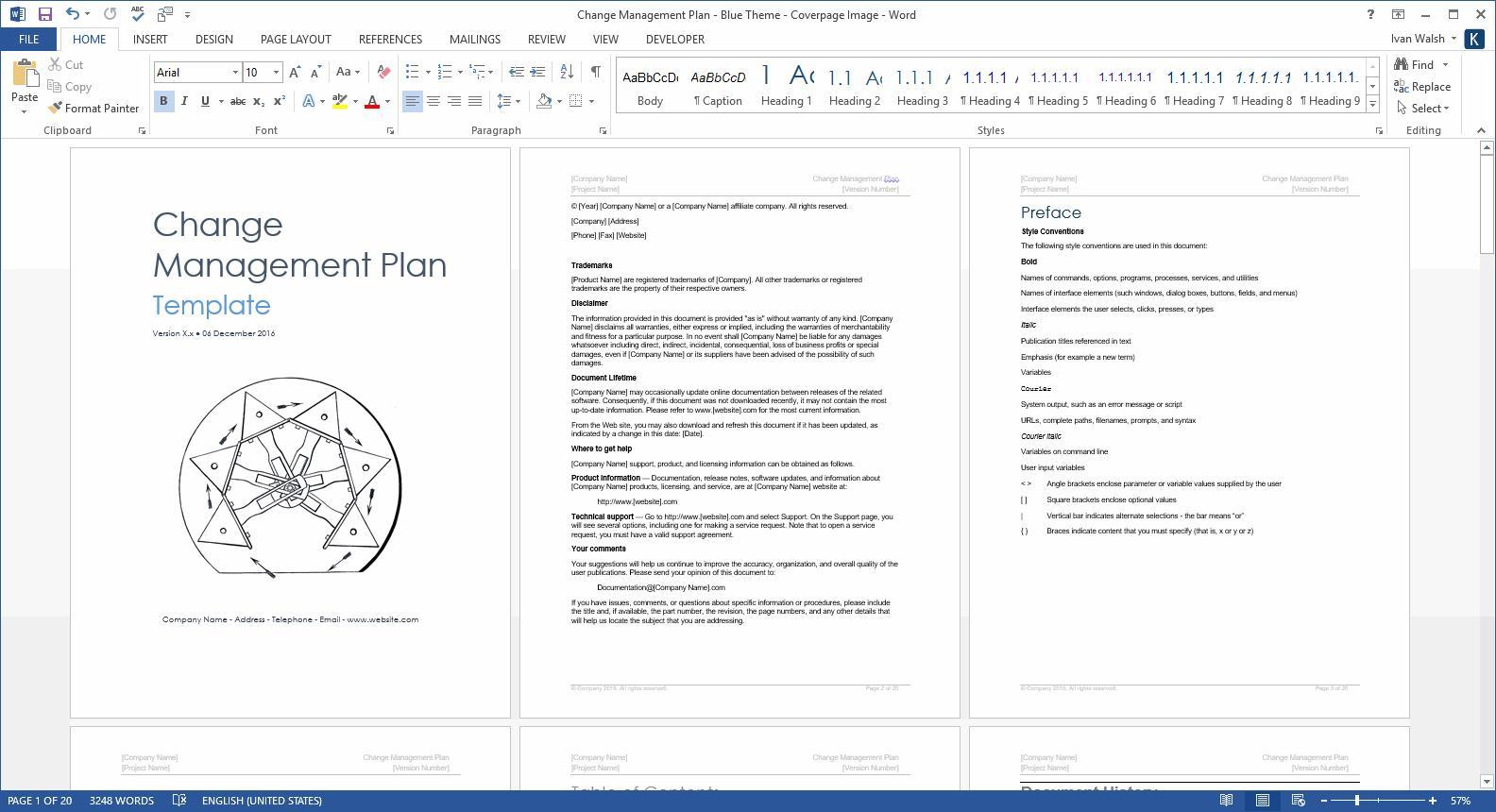 Change Management Project Plan Template Excel