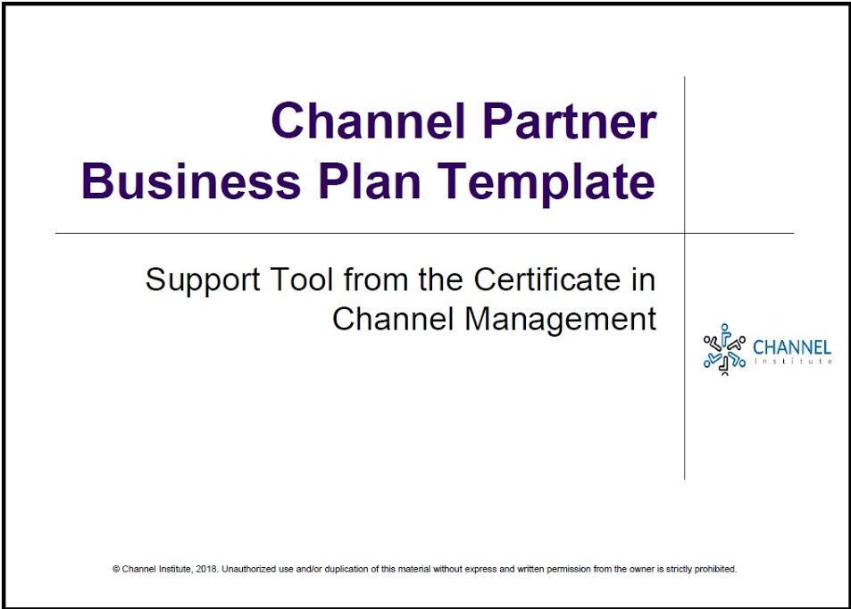 Channel Partner Program Template