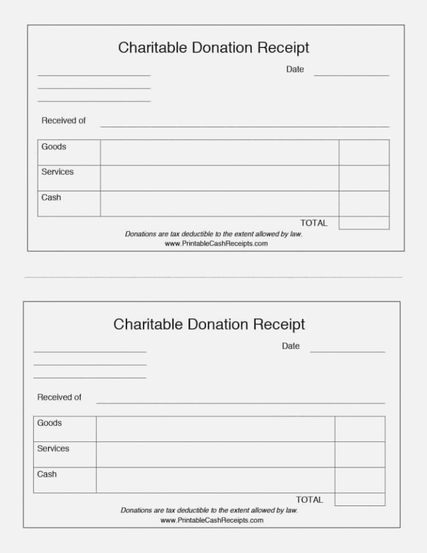 Charitable Donation Invoice Template