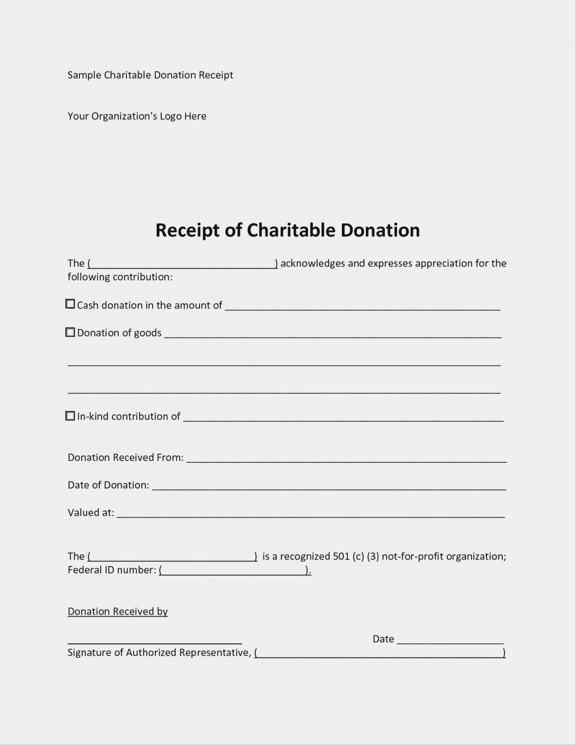 Charitable Donations Template Form