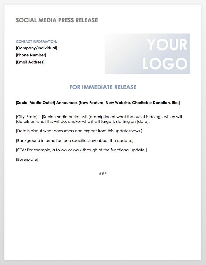 Charity Donation Press Release Template
