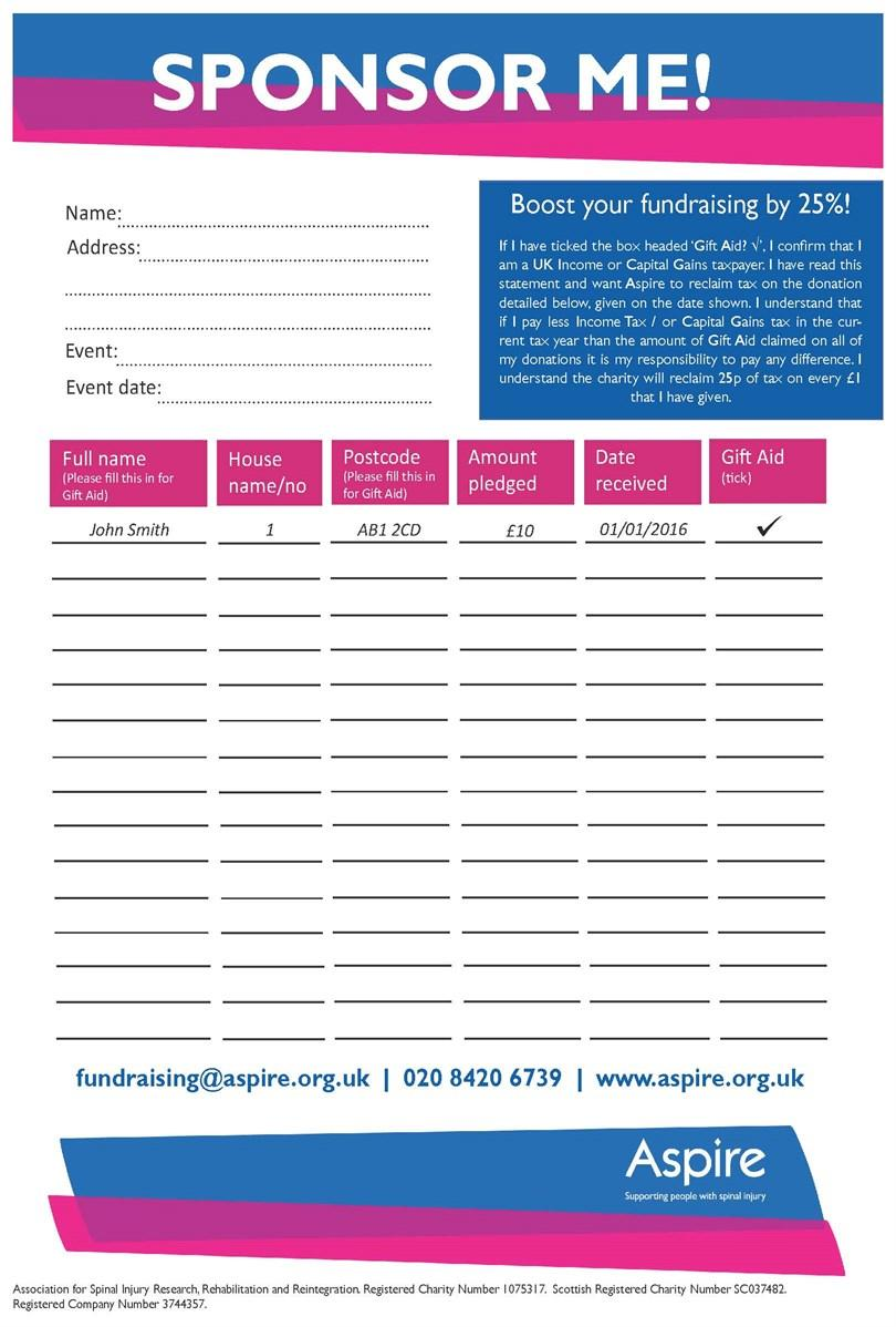 Charity Fundraising Form Template