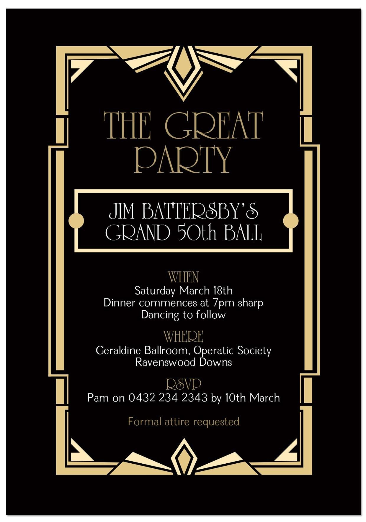 Charity Gala Invitation Templates