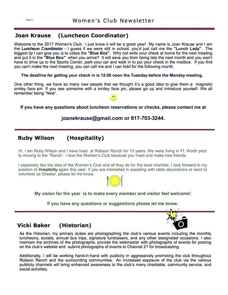 Charity Newsletter Layout
