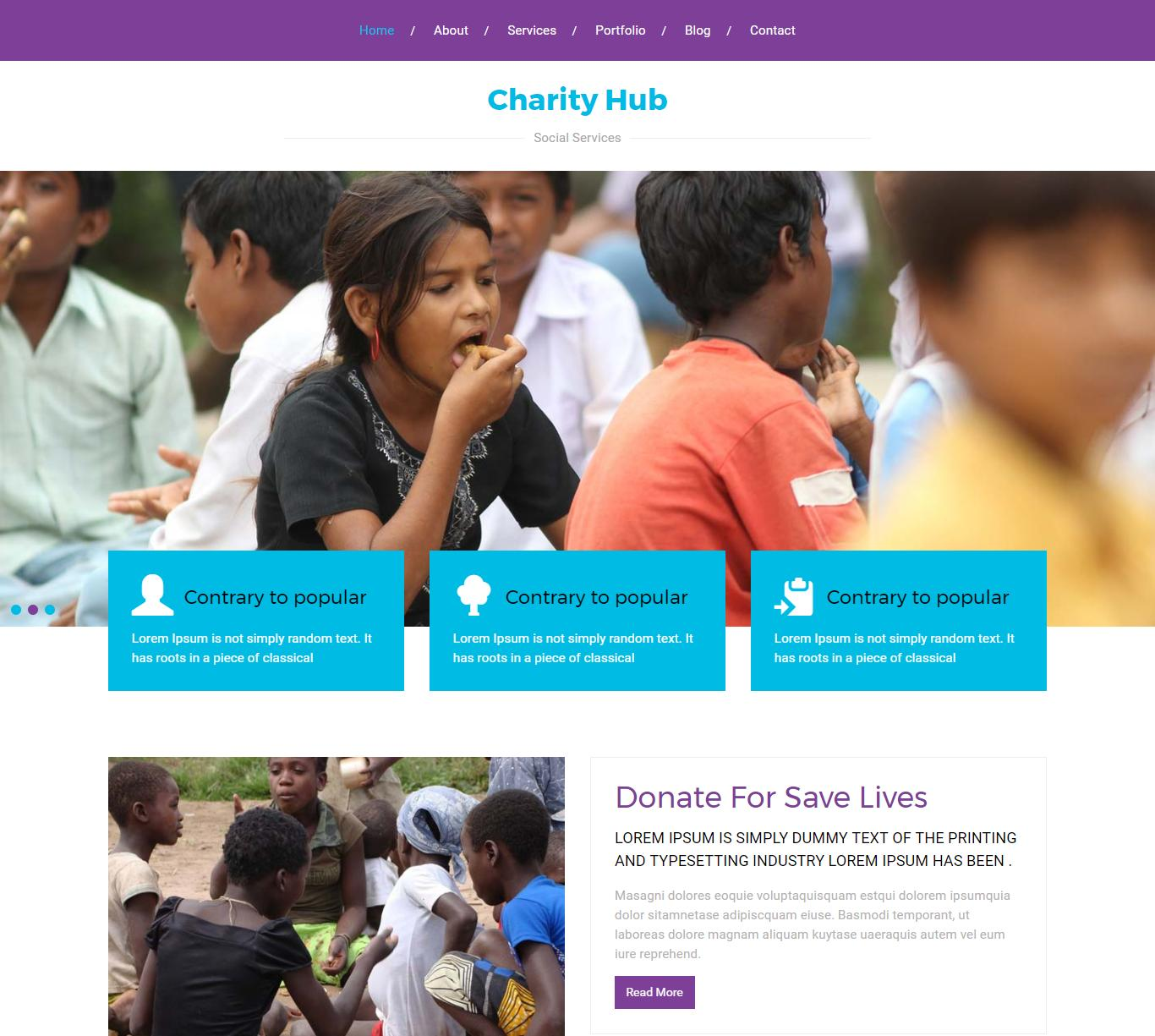 Charity Website Templates Free