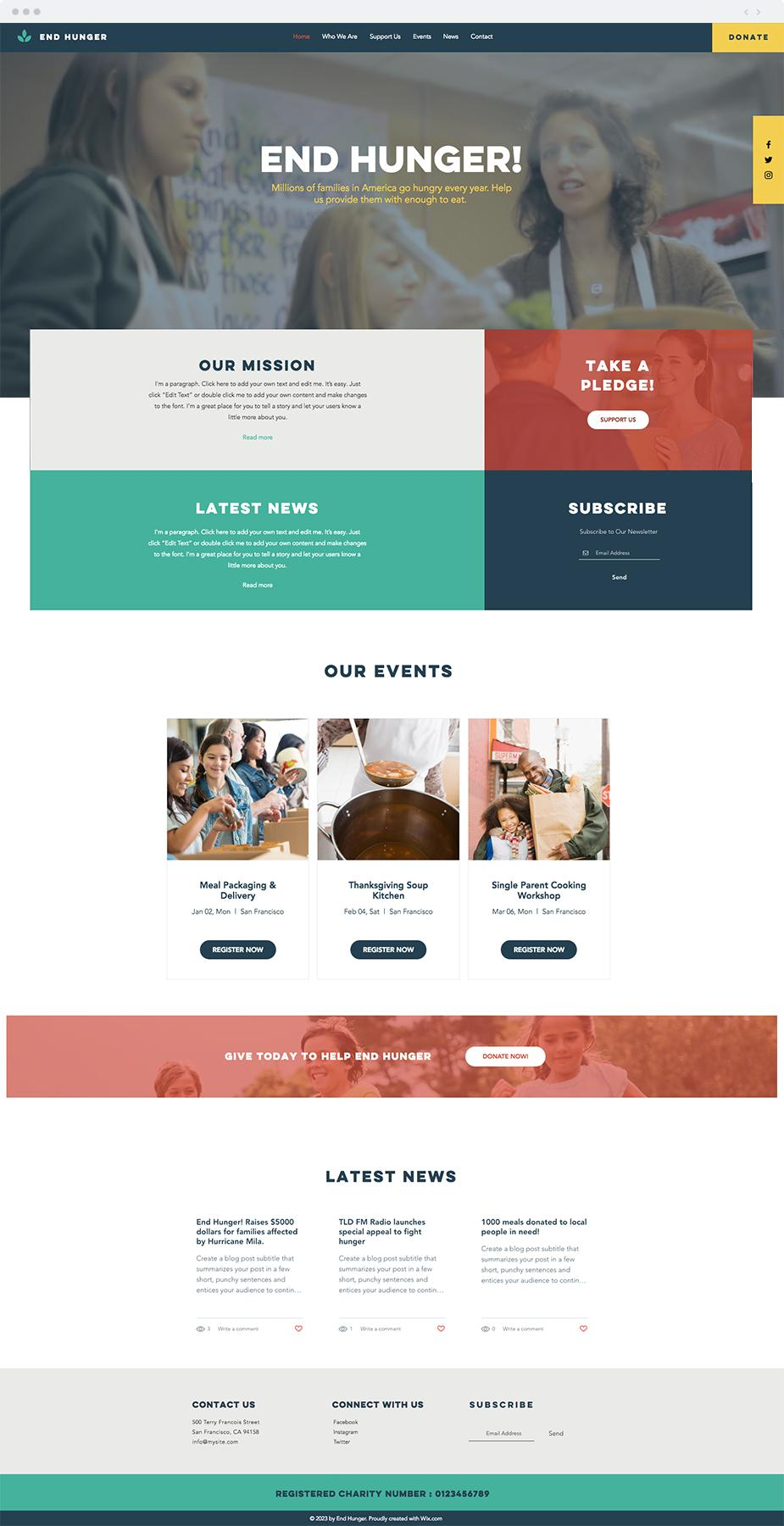 Charity Website Templates Wix
