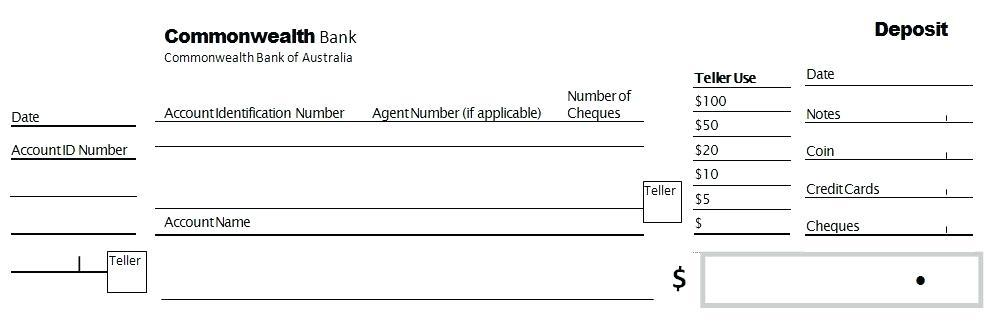Check Deposit Slips Template