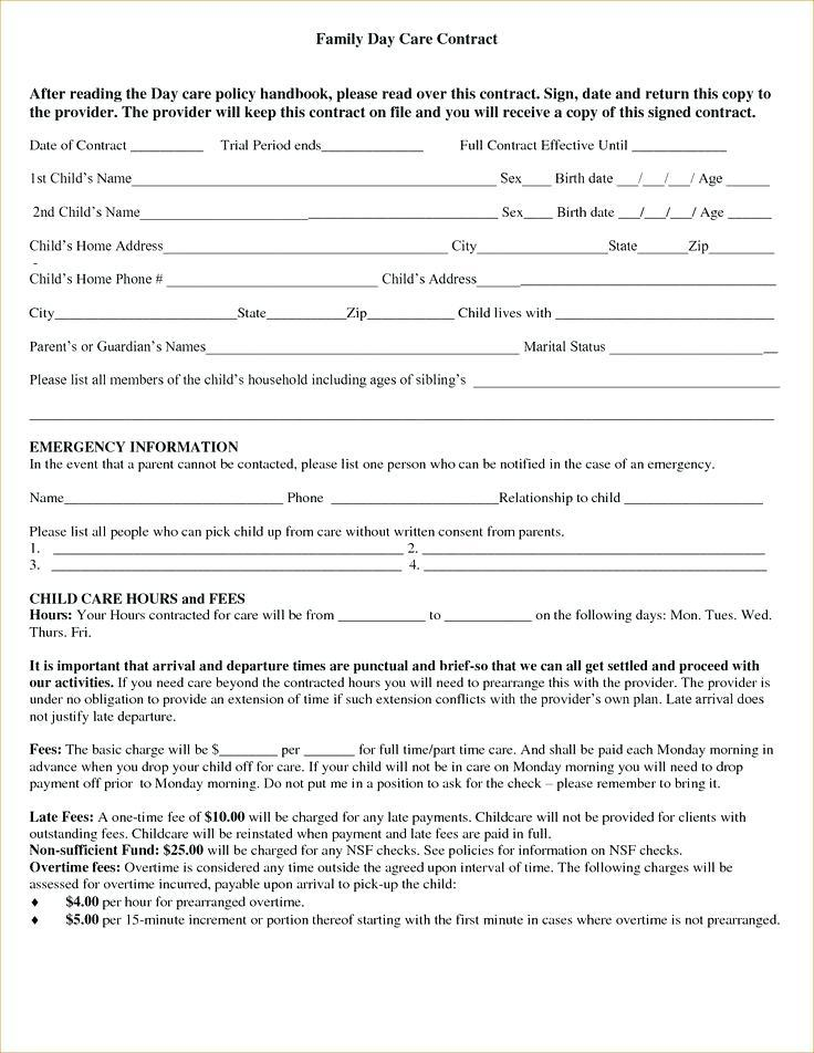 Child Care Behavior Observation Form