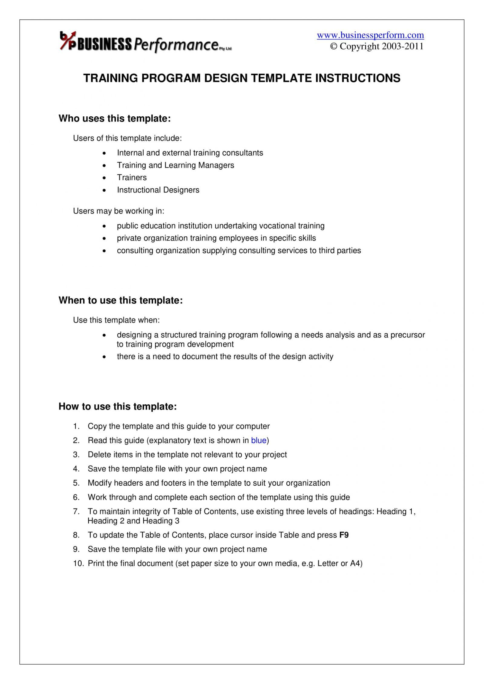 Child Care Business Plan Sample Free Pdf