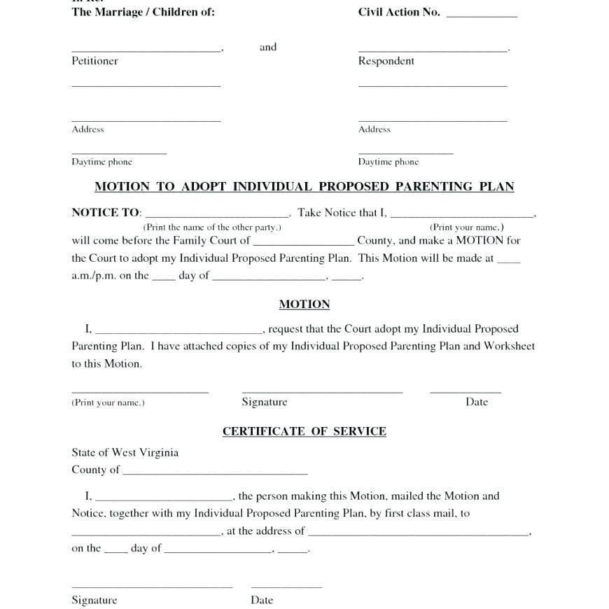 Child Custody Agreement Template Pennsylvania