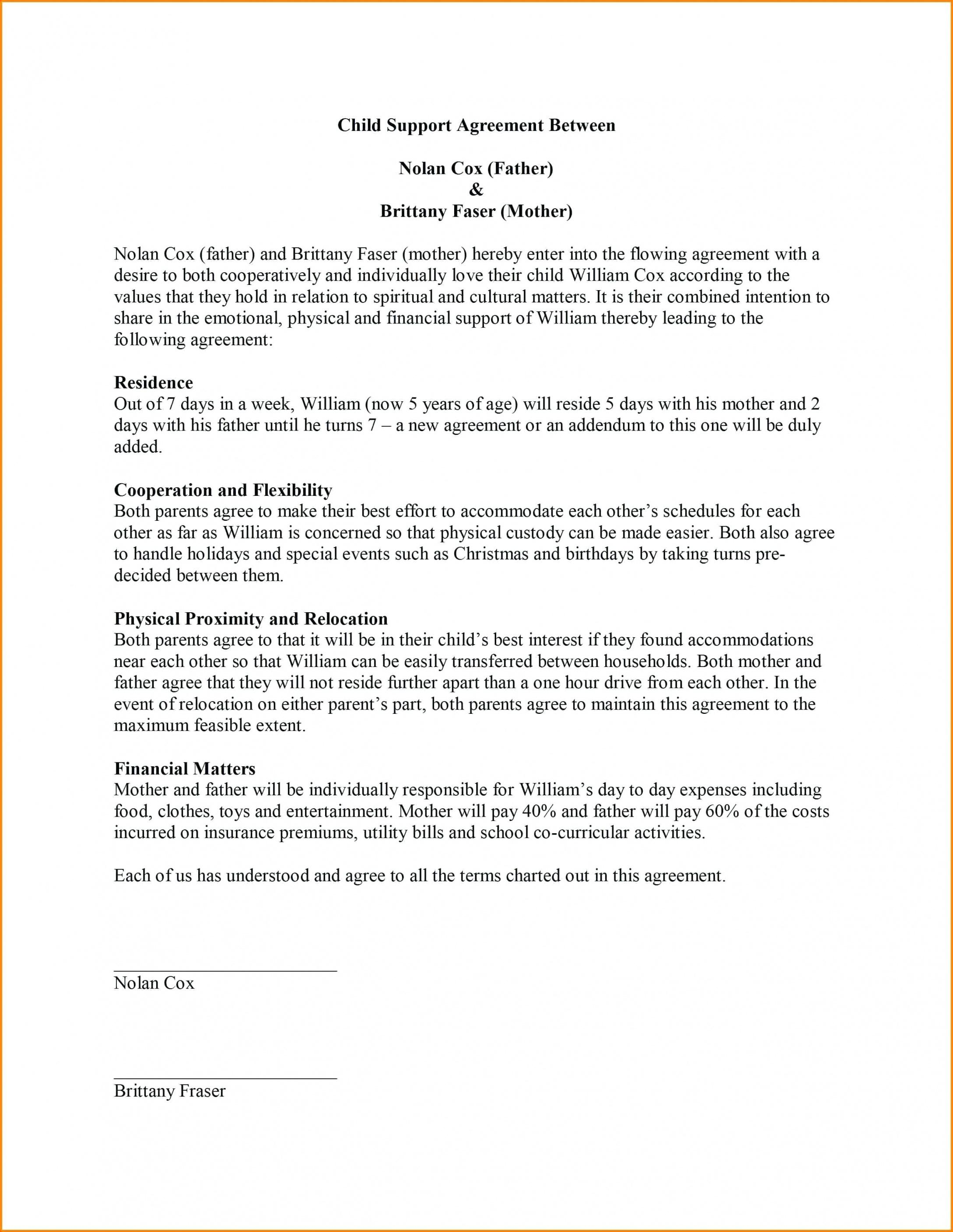 Child Custody Agreement Template Philippines