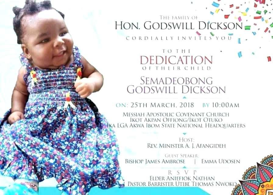 Child Dedication Invitation Template