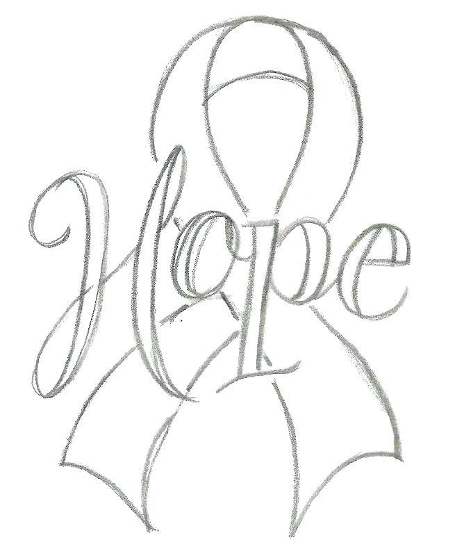 Childhood Cancer Ribbon Template