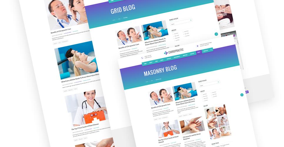 Chiropractic Website Design Templates