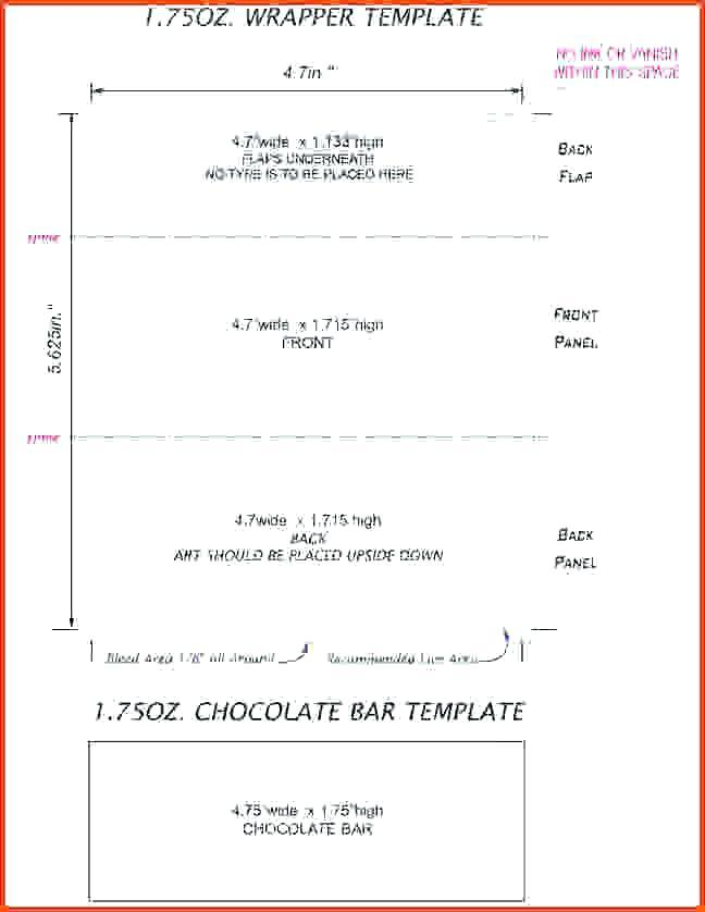 Chocolate Wrapper Template Blank