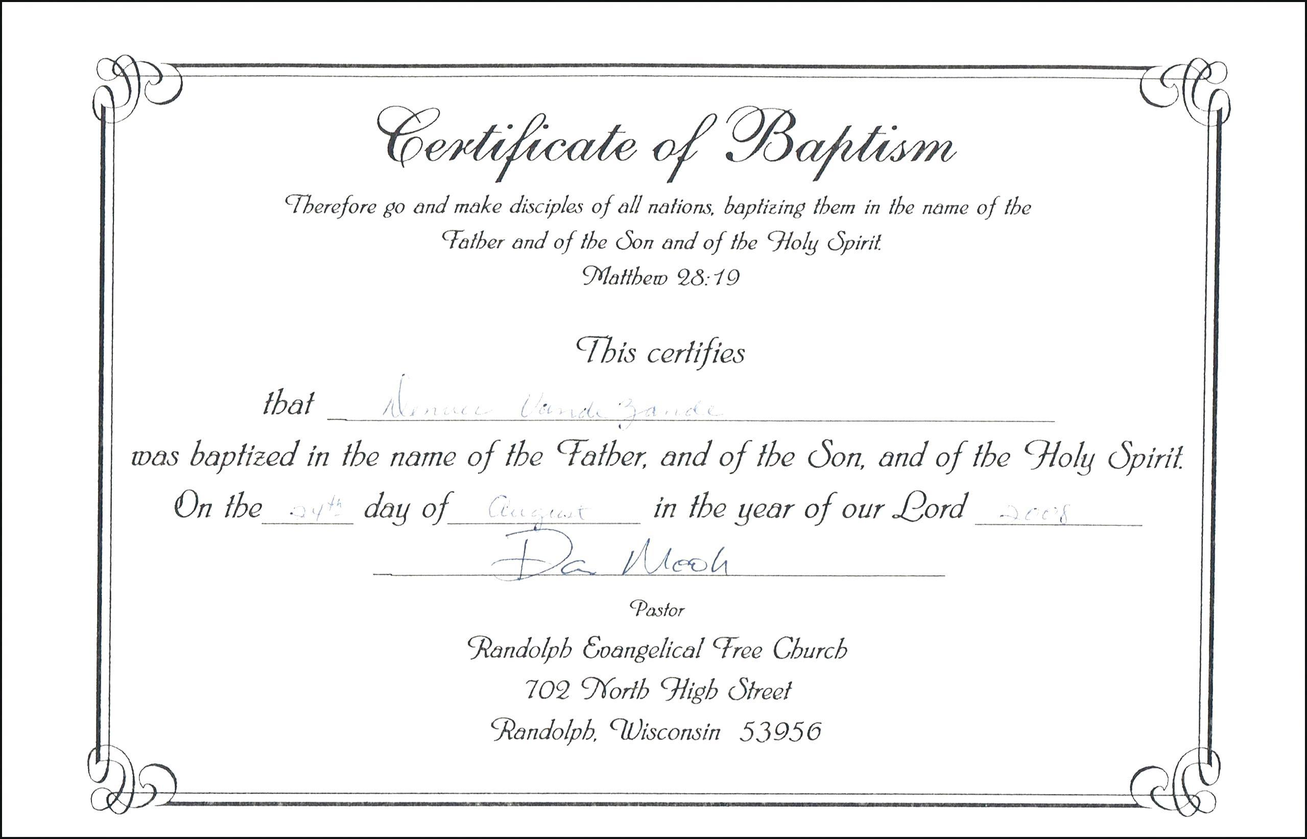 Christening Certificate Templates Free Download