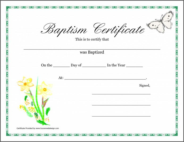 Christening Certificates Templates Free
