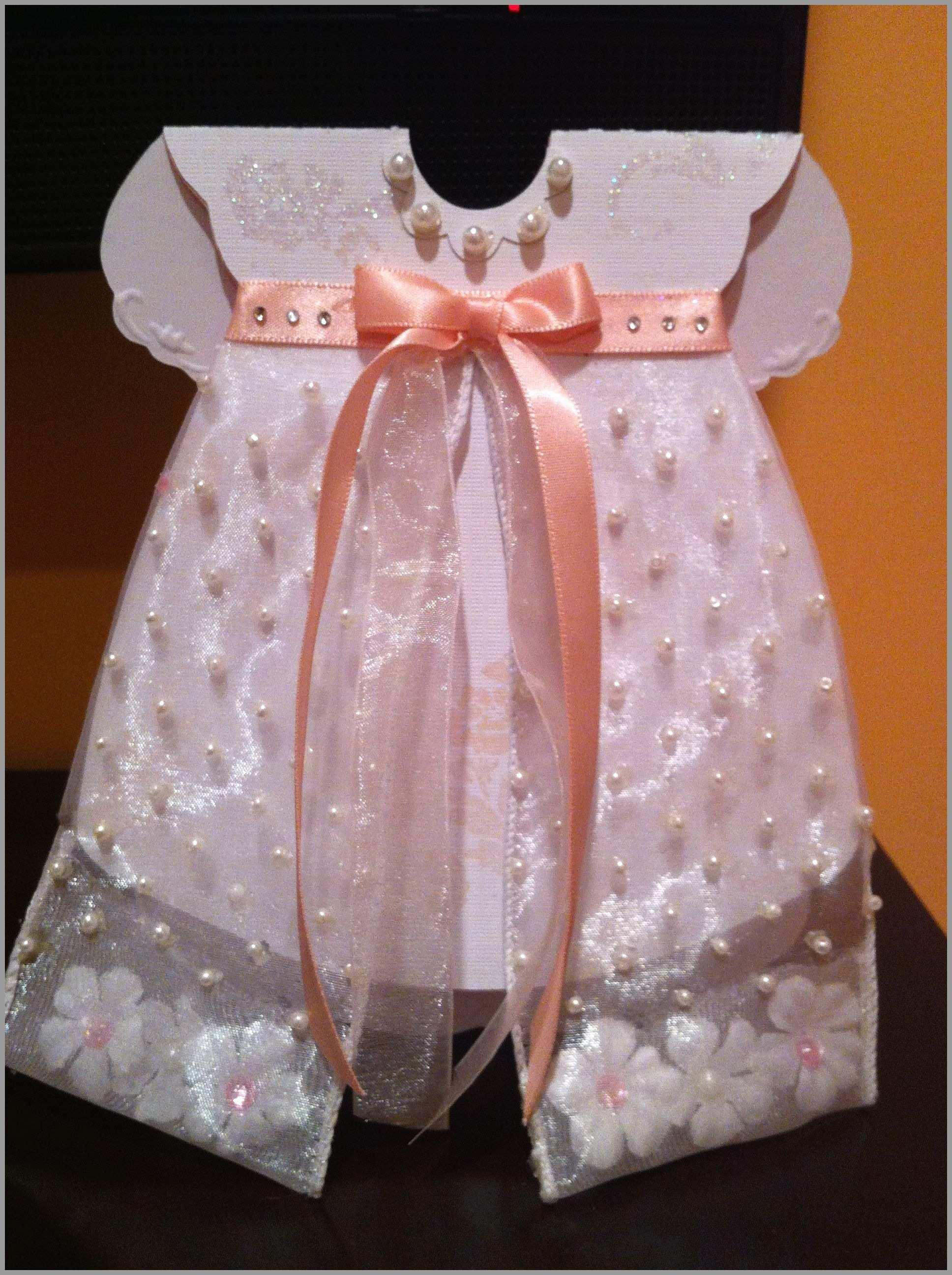 Christening Dress Invitation Template