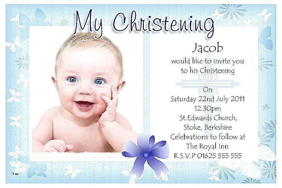 Christening Invitation Card Template Free Download