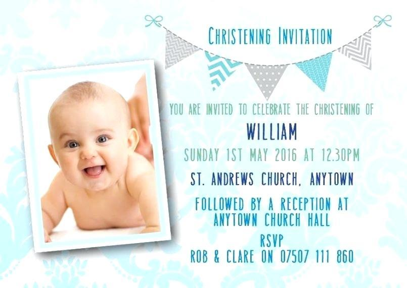 Christening Invitation Template For Baby Boy