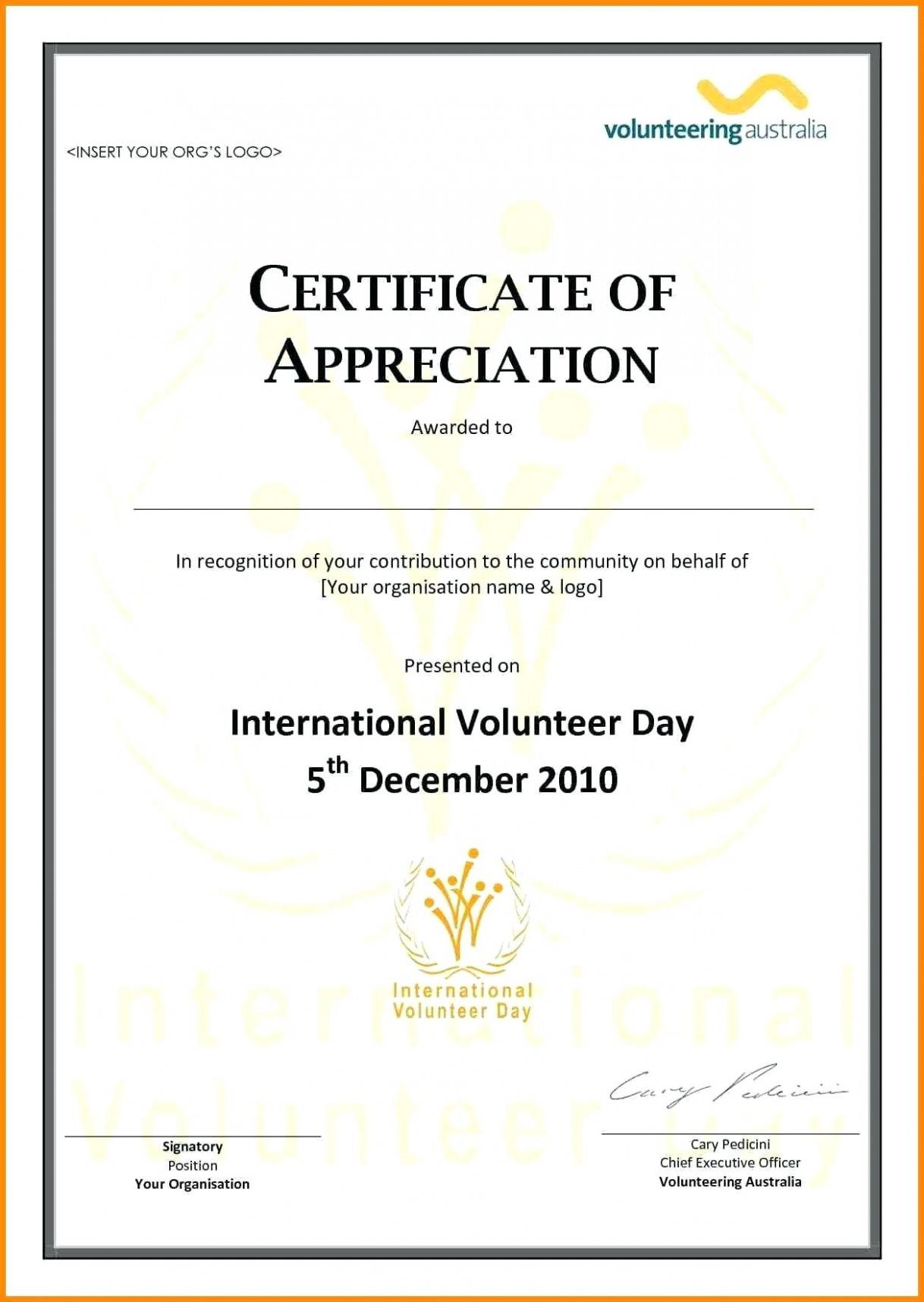 Christian Certificates Of Appreciation Templates