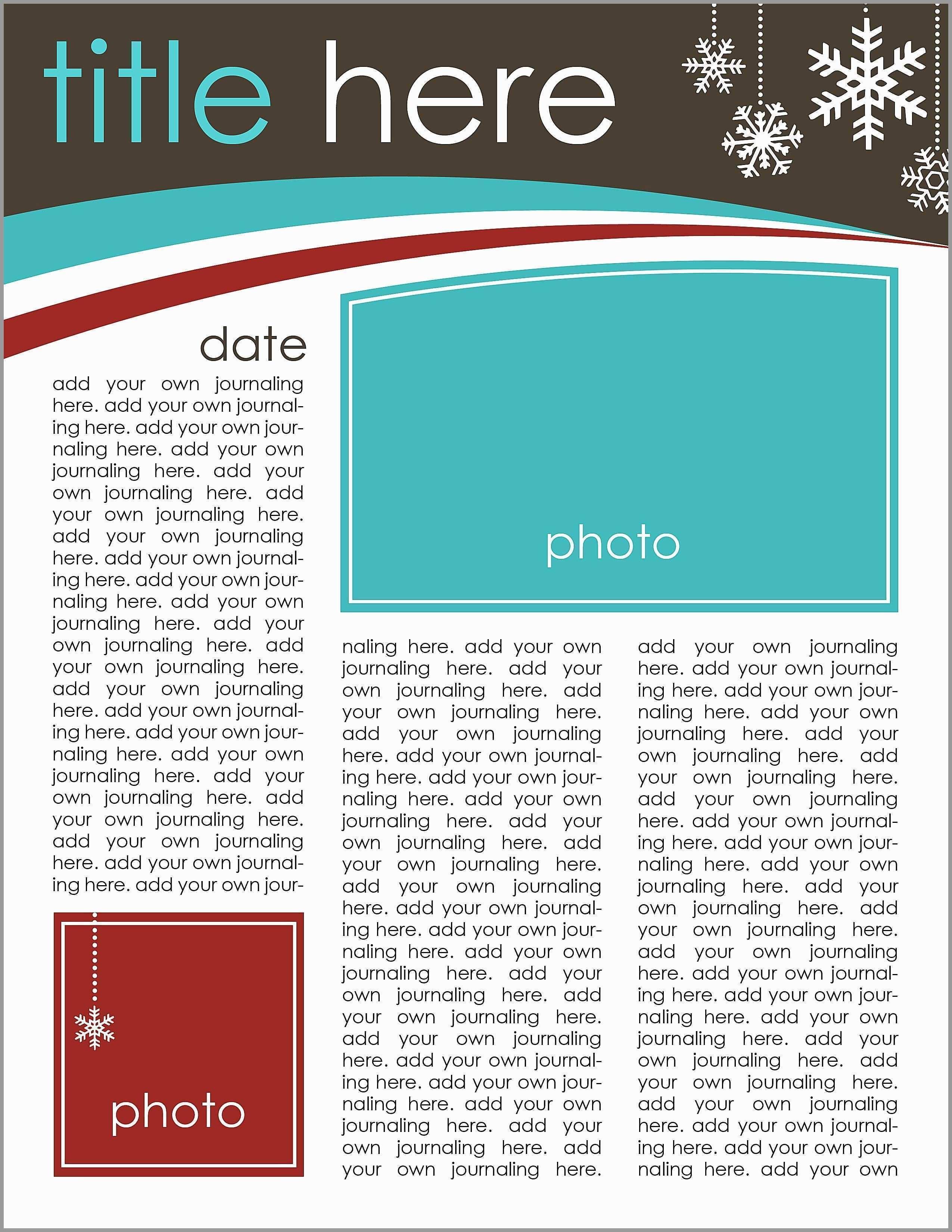 Christian Christmas Newsletter Template Free
