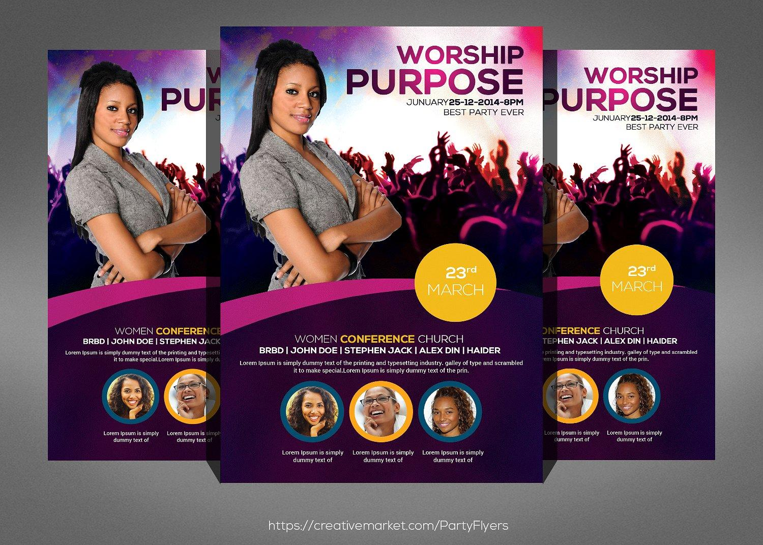 Christian Conference Flyer Templates