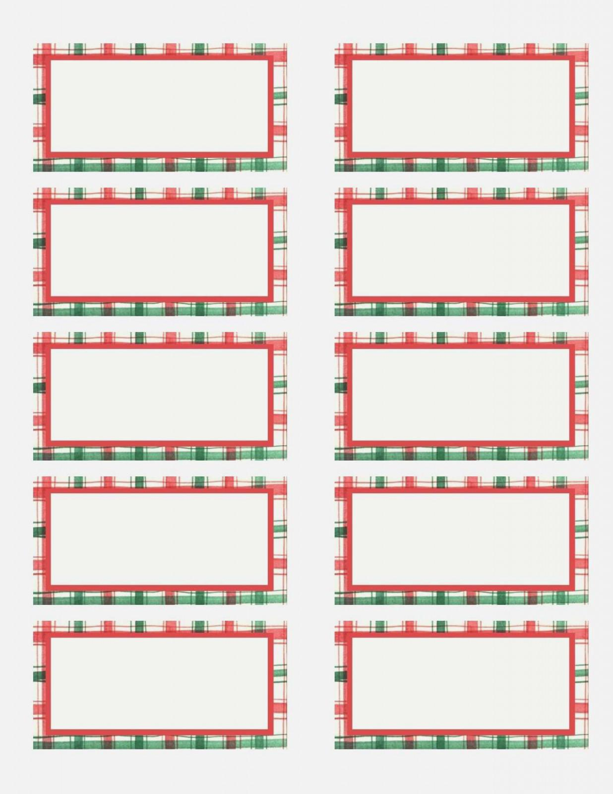 Christmas Address Label Templates