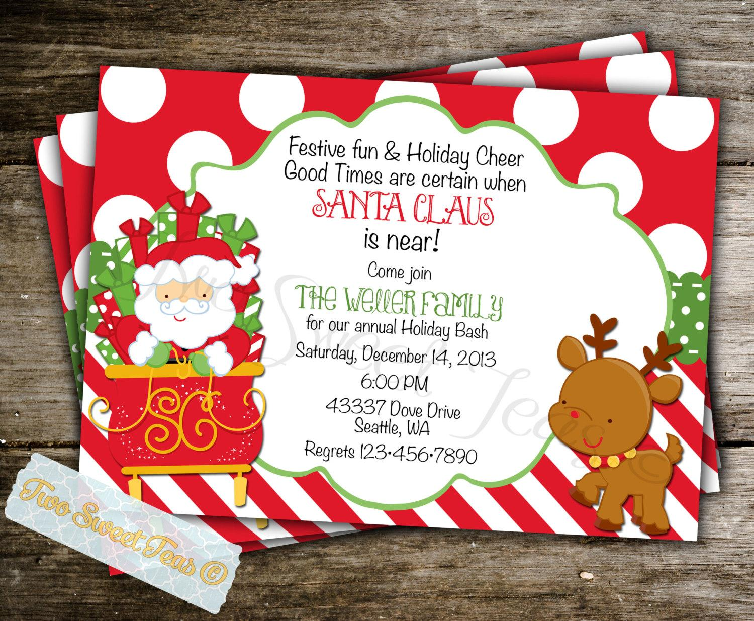 Christmas Breakfast Invitation Template
