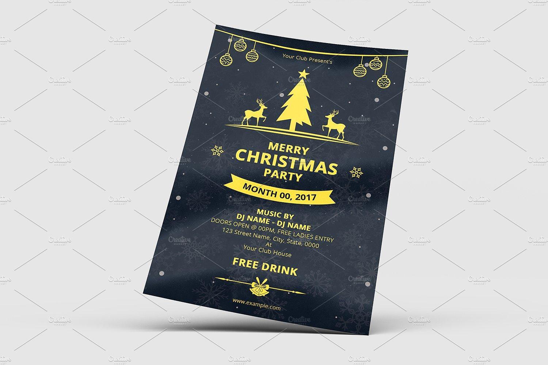 Christmas Invitation Flyer Template Free